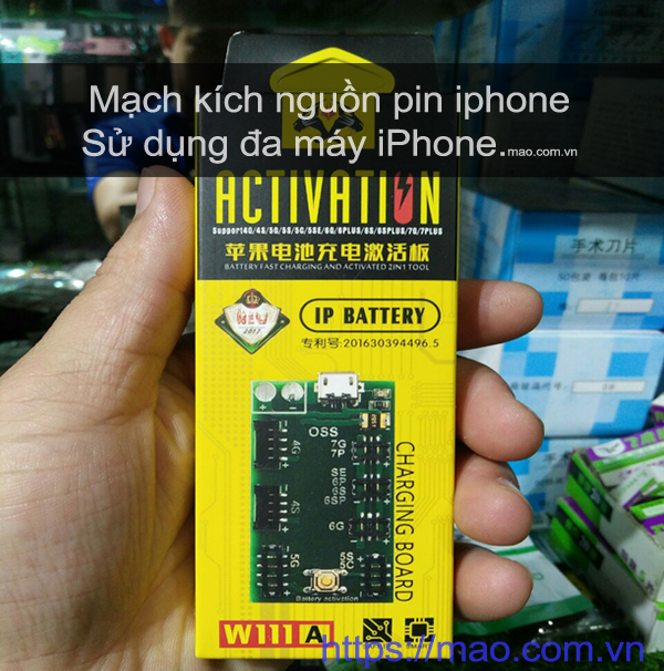may kich nguon pin iphone